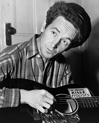 When Woody Guthrie wrote songs about events in labor history, it was sometimes the only way to hear the workers' point of view.