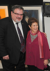 Local 802 President Tino Gagliardi and the film's director, Judy Chaikin. Photo: Walter Karling