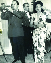 Emilio de los Reyes and his wife, Irma Rodriguez, at the Flagler Hotel in the Catskills in 1949.