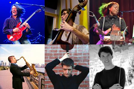 Top row: Daniel Peters (photo: John O'Gara), Ben Campbell and Courtnee Roze. Bottom Row: Alex Chilowicz, John Stulz and Mason Griffin.