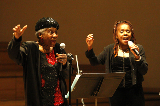 Carline Ray and her daughter Catherine Russell in 2008. Photo: Joseph A. Rosen