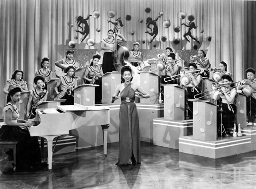 Carline Ray played with the International Sweethearts of Rhythm; she's pictured on guitar (second row, third from the left). Photo: Carline Ray Collection