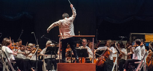 LIVE MUSIC SOUNDS GREAT OUTSIDE: Over the summer, the New York Philharmonic played its annual concerts in the parks, including this performance of Tchaikovsky in Prospect Park, conducted by Maestro Alan Gilbert. Photo: Stephanie Berger