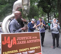Musicians performed as part of the union's jazz campaign. Photo: Shane Gasteyer