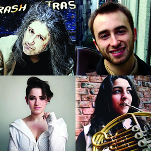 Clockwise from top left: Sohrab Saadat Ladjevardi, Nick Grinder, Ilana Faibish, Danielle Eva Schwob