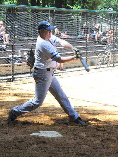 A base hit for manager Clint Sharman