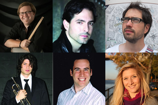 Top row: Evan Goldhahn, Richard Mollo and Salomon Lerner. Bottom row: Michael Sinicropi, Mitchell Feinberg and Stepanie Rainess.