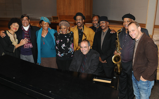 From left, Dotti Fox, Jimmy Owens, Maluwa, Keisha St. Joan, Patience Higgins, Steve Elmer, Marcus McLaurine, George Gray, Bill Saxton, Todd Weeks.
