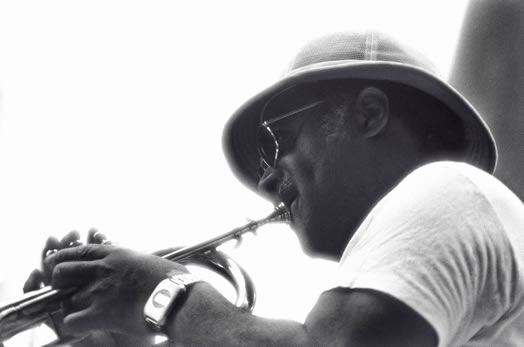Clark Terry in New York City, in 1976.