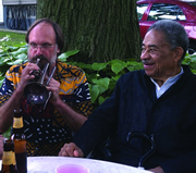 The late, great Frank Wess (right) with Scott Robinson in 2012.