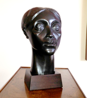 "An Elizabeth Catlett sculpture called ""Glory"" (1981)."