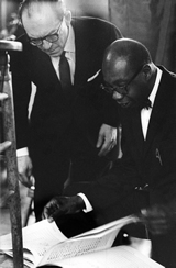 """Concert pianist and Smith College professor George Walker goes over his composition """"Address for Orchestra"""" with Benjamin Steinberg. The Symphony of the New World premiered this piece at the High School of Music and Art in Harlem, then presented it the following day at Lincoln Center."""