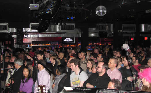 UNITED, WE STAND: Supporters of artists' rights packed a concert and rally by the Content Creators Coalition in late February at Le Poisson Rouge. The new organization vows to mobilize creative artists; its first campaign revolves around radio performance rights. Photo: Abby Martin