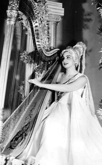 """Susan Jolles, in costume, performing in """"Holiday on Ice"""" in 1962."""