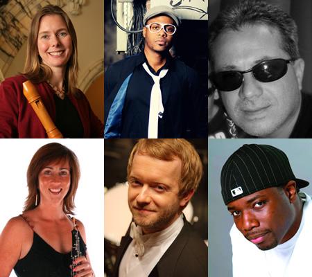Top row: Tricia van Oers, Alonzo Harris, Joaquin Rodriguez. Bottom row: Heather Donnelly, Jason Haaheim, Stix Bones