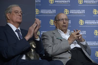 David Koch (left) and his brother Charles.