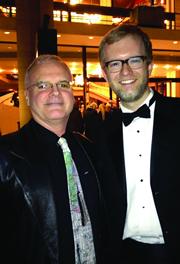 Daniel McCaughan (left) and Principal Timpanist Jason Haaheim.
