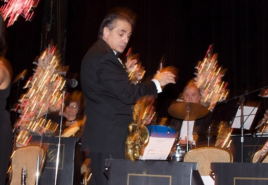 Spencer Bruno leading the Lester Lanin Orchestra at the International Debutante Ball at the Waldorf in 2008. Spencer took over the Lanin Orchestra in 2004 after Lanin died.