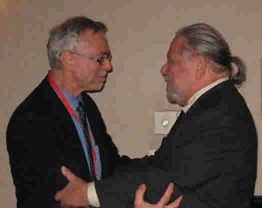 Local 802 member Joseph Rutkowski (left) and his teacher, Lawrence Sobol. Photo: Vicki Jones Raspina