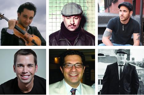 Top row, from left: Artur Kaganovskiy, Brian Charette and Colin Dean. Bottom row: Chris Williams, Jason Wetzel and Mark Dover.