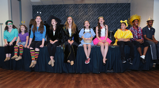 Campers at this year's Summer Stock Jr. produced a musical in four days, accompanied by live music. Photos: Steve Singer