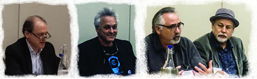 UNITED, WE WIN: From left, Andy Schwartz, Marc Ribot, Bruce Fife and Dave Pomeroy at the recent Future of Music Policy Summit in Washington, D.C.