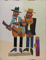"""Street Musicians"" by the Harlem Renaissance painter William H. Johnson (1901-1970)"