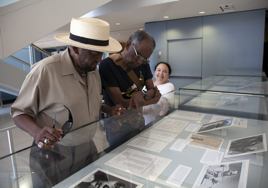 Harold Jones, Wilmer Wise and Barbara Steinberg at the Lincoln Center branch of the New York Public Library in 2014. The library presented an exhibit of the Symphony of the New World, the first fully-integrated professional symphony orchestra in the U.S., where both Mr. Jones and Mr. Wise had performed. Please see our obituaries for Mr. Jones and Mr. Wise in this issue.