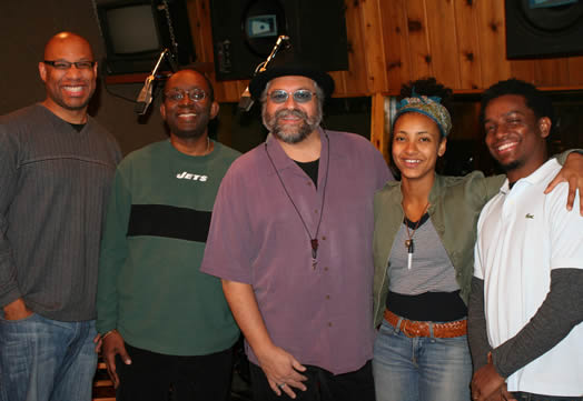 Joe Lovano with his group Us Five, including drummers Otis Brown III and Francisco Mela, bassist Esperanza Spalding and pianist James Weidman. The band was awarded Best Small Ensemble of the Year by the Jazz Journalists Association. Photo: Eugina Morrison