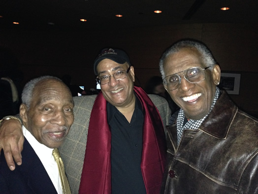 We lost a highly respected trumpet player and a mentor to many, when Wilmer Wise died on Jan. 30 after being a member of Local 802 since 1970. See obituary in this issue. From left, Joe Wilder (1922-2014), Jimmy Owens and Wilmer Wise (1936-2015). Photo: Jon-Erik Kellso