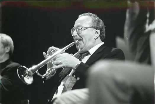 Emile Charlap performing at his 80th birthday party in 1998.