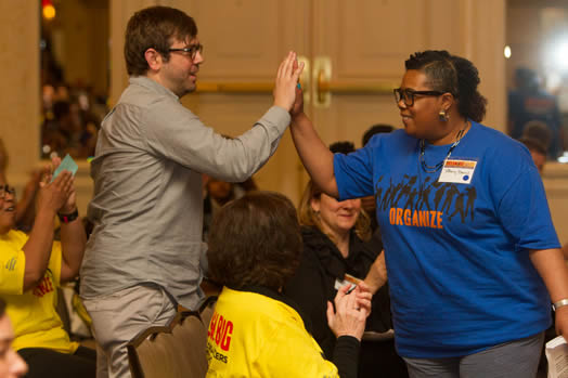 Activists get inspired at the National Organizers Workshop.