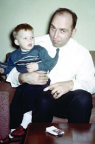 James Henry Poché in 1965 with his nephew Scott.