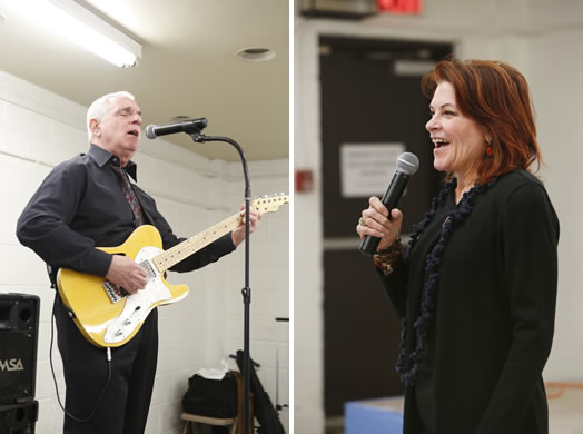 Local 802 members Richard Frank and Rosanne Cash kicked off the inaugural event of MusicianFest, a program to bring free music to older adults, sponsored in part by the Music Performance Trust Fund. Photos by Kate Glicksberg.