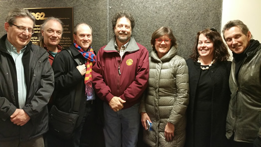 The RMA-NY Board welcomed AFM President Ray Hair, EMSD Director Pat Varriale and AFM Communications Director Rose Ryan to the RMA-NY's annual meeting in March. Also pictured are Shem Guibbory, Andy Schwartz, Gail Kruvand and Chris Parker.