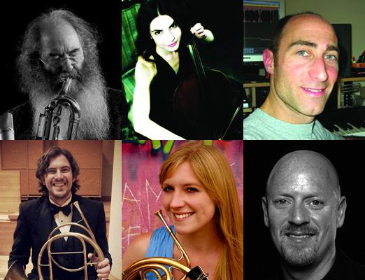 Top row: Dave Sewelson, Aminda Asher, Steve Nathanson. Bottom row: Mike Sayre, Erin Paul, Steve Sidwell.