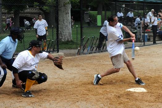 Base hit for Jim Dos Santos