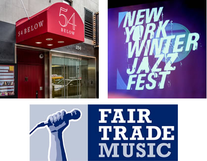 Inspirational union campaigns: 54 Below, Winter Jazzfest and Fair Trade Music.