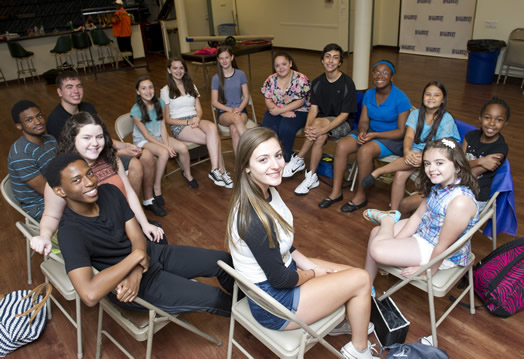 FUTURE BROADWAY STARS: Participants in this year's Summer Stock Jr. program, which took place at Local 802, enjoyed a full two-week session for the first time.