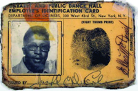 Bo Diddley's original cabaret card was recently sold at an auction for $2,500.