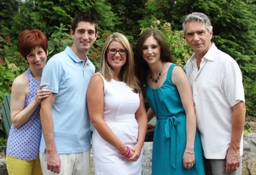 Michael Keller and wife Pamela, son Zachary, daughter-in-law Christin and daughter Alexis