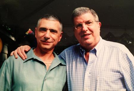 Michael Keller with longtime friend, collaborator and mentor Marvin Hamlisch