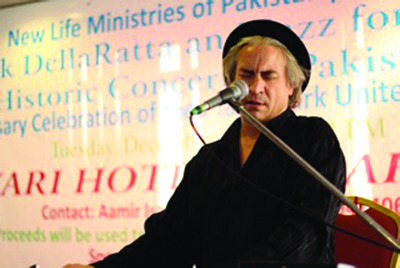 Local 802 member Rick DellaRatta performing in Pakistan.