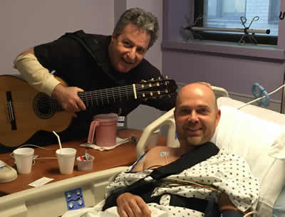 Andrew Schulman uses his music to help hospital patients. Photo: Pilar Baker