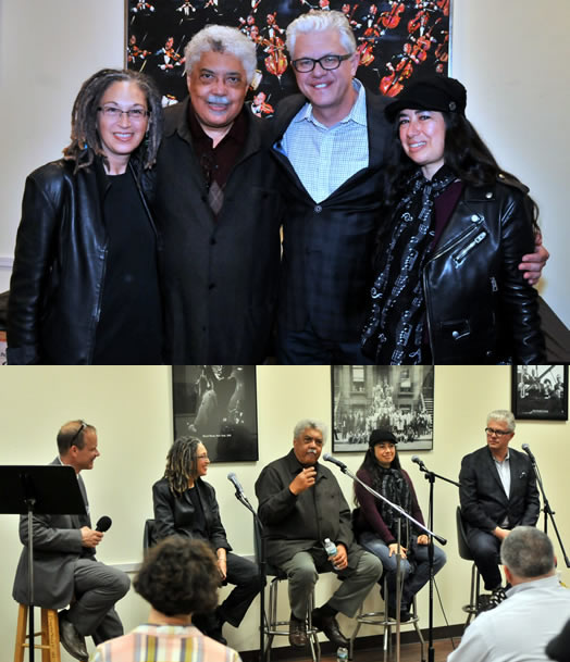 Su Terry, Rufus Reid, Matt Wilson and Rachel Z offered tips, strategies and stories at the Jazz Mentors program in April at Local 802. Photos by Walter Karling.