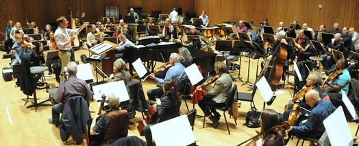Musicians who play for hte New York Pops (pictured above from a rehearsal last year) recently won a new contract with Local 802. The Pops' wages and benefits have become the basis for the Local 802 freelance classical scale.