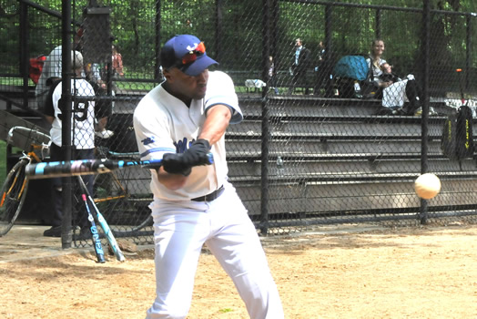 Shawn T. Andrew eyes a fastball.