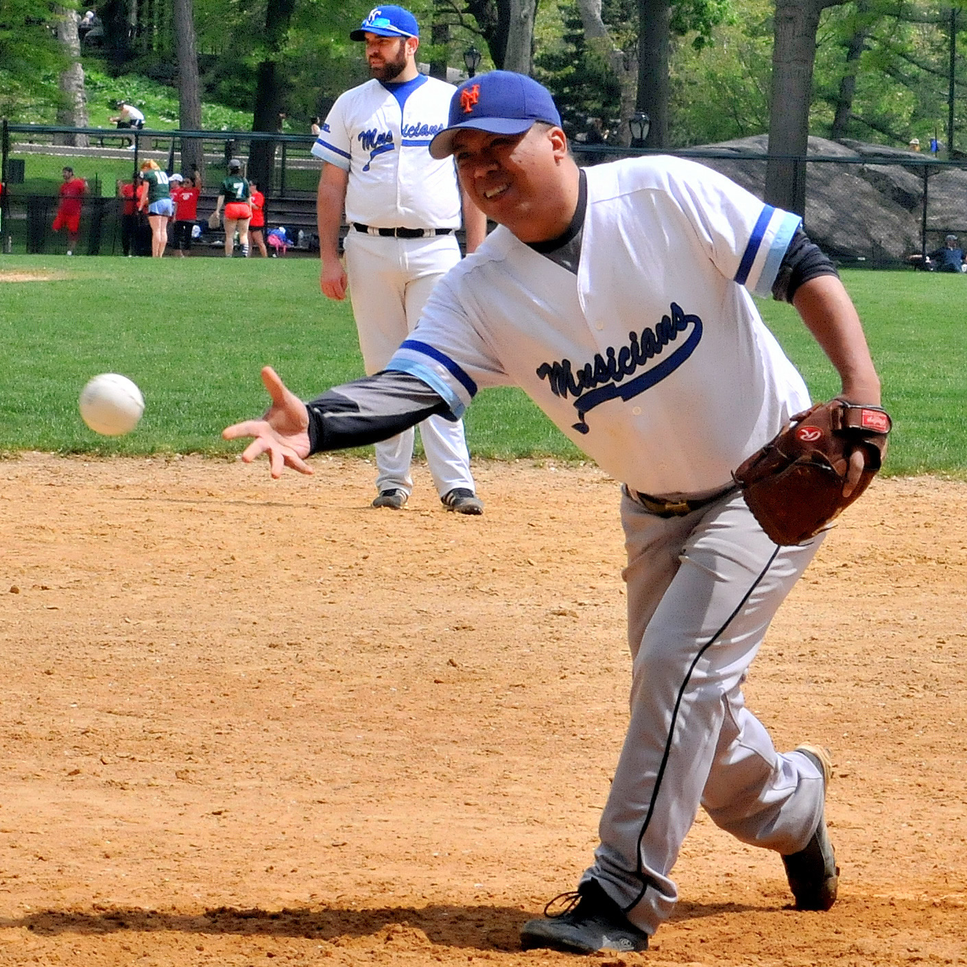 Frank Usamamont throws a strike.