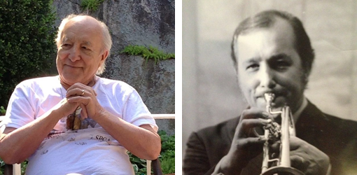 Joe Shepley later in life (left) and in his heyday (right). Joe died on March 26 at 85.