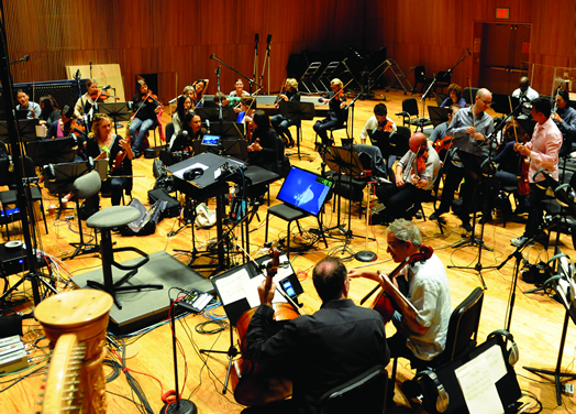 """RECORDING, UNION STYLE: Local 802 musicians recently recorded the score to the 2016 Coen brothers' movie """"Hail, Caesar"""" at the DiMenna Center under a union contract. Photo: Walter Karling."""